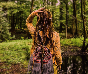 dreads, fashion, and forest image