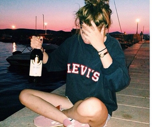 girl, levis, and summer image