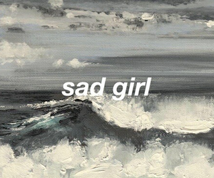 sad, art, and grey image