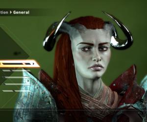 qunari, female qunari, and adaar image