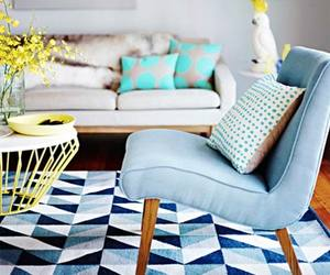 decor, home, and blue image