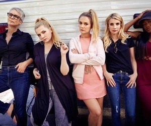 emma roberts, scream queens, and jamie lee curtis image