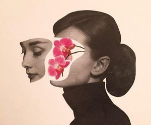 audrey, photograph manipulation, and sketchbooks image