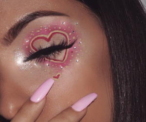 nails, eyebrows, and glitter image