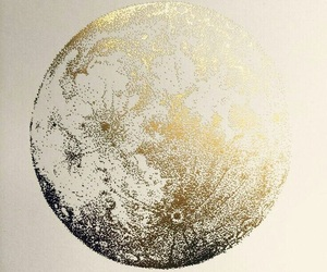 aesthetic, gold, and moon image