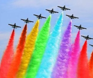 airplane, art, and colorful image