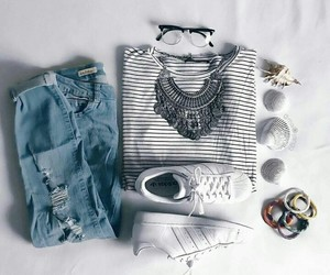 adidas, jeans, and outfit+ image