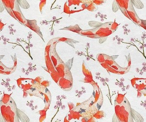 fish, pattern, and wallpaper image