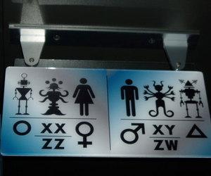 alien, girl, and bathroom image