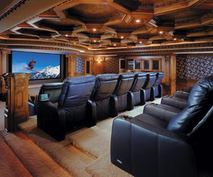 home, luxury, and home theaters image
