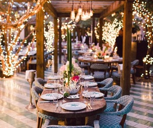 lights and dinner image