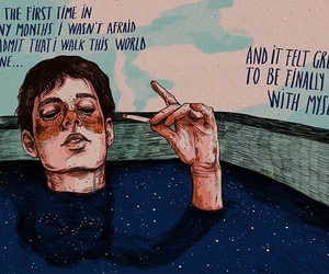 quotes, art, and alone image
