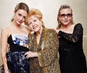 carrie fisher, Debbie Reynolds, and billie lourd image