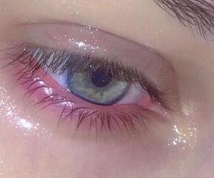 eye, pastel, and green image