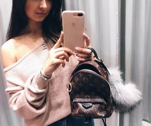 backpack, fendi, and girl image