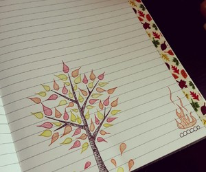autumn, doodle, and draw image