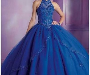 dress, xv, and blue image