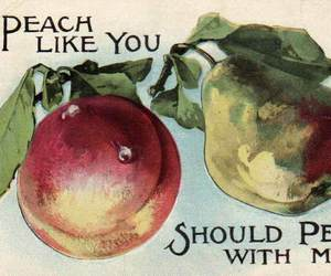 couple, fruit, and peach image