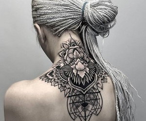 hair, tattoo, and tribal image