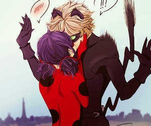 Chat Noir, miraculous ladybug, and ladynoir image