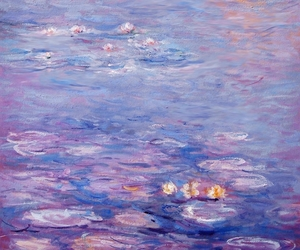 art, modern art, and water lilies image