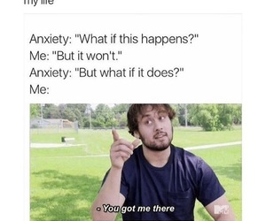 anxiety, funny, and meme image