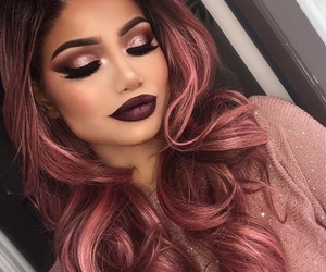 makeup, hair, and girl image