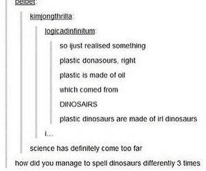 dinosaur, funny, and oil image