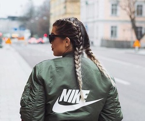 nike, braids, and hair image