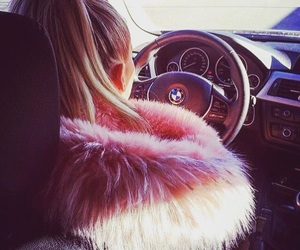 beauty, blond, and bmw image