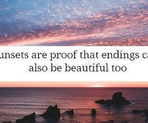 sunset, quotes, and text image