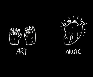 music, art, and heart image
