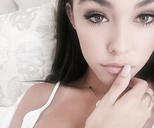 madison beer, beer, and eyes image