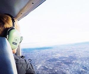 blonde, cockpit, and flight image