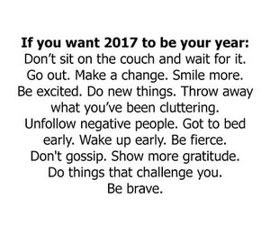 2017, brave, and new year image