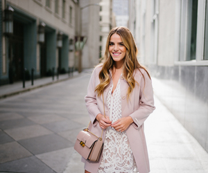 blogger, coat, and dress image