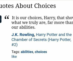 choices, inspiration, and harry potter image