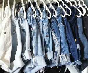shorts, jeans, and blue image