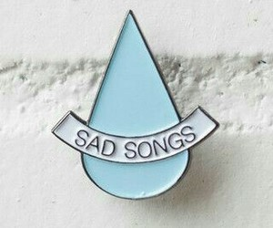 blue, pin, and sad image