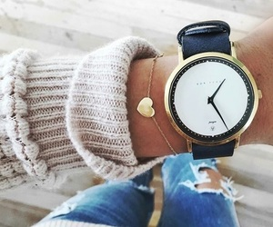 fashion, watch, and heart image