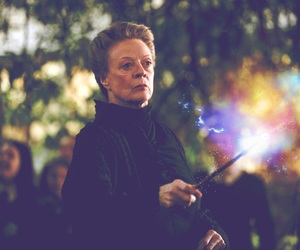 harry potter, hogwarts, and maggie smith image