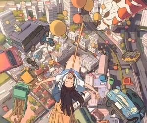 anime, girl, and happiness image