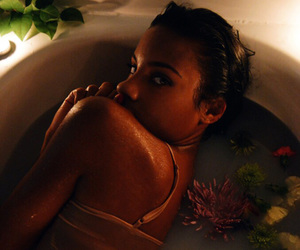 bathtub, pretty, and model image