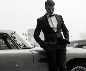 car, gentleman, and man image