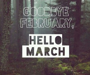 february, march, and spring image