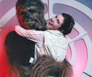 star wars, chewbacca, and carrie fisher image