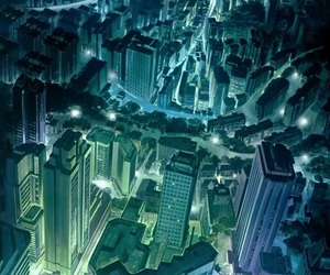 anime and city image