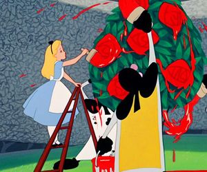 alice in wonderland, disney, and roses image