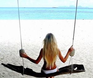 beach, girl, and travel image