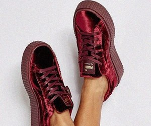 puma, red, and shoes image